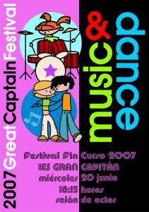 Festival fin de curso 2007: cartel