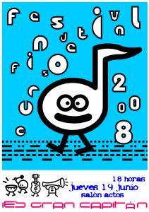 Festival fin de curso 2008: cartel