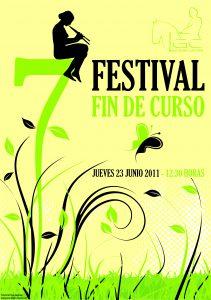Festival fin de curso 2011: cartel